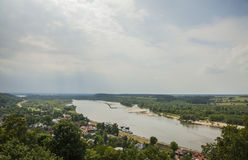 Kazimierz Dolny, Poland - Wisla river. This image shows a view of Kazimierz Dolny, a small town in Poland, Europe. It was taken in June 2017 on a beautiful Royalty Free Stock Photos