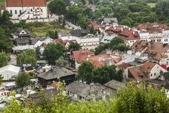 Kazimierz Dolny Polen - en sikt från över Arkivbild