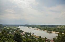Kazimierz Dolny, Polen- - Wisla-Fluss Lizenzfreie Stockfotos