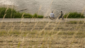 Kazimierz Dolny, Polonia - dal fiume la Vistola/pesca Fotografia Stock