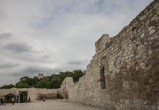 Kazimierz Dolny, Polonia - il castello/pareti Immagini Stock Libere da Diritti