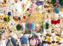 Kazimierz Dolny, Polonia - mercato di strada/giocattoli Fotografia Stock