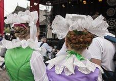 Kazimierz Dolny, Polonia - vestiti/cappelli tradizionali Immagini Stock Libere da Diritti
