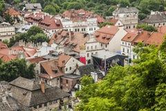 Kazimierz Dolny, Polska - czerwoni dachów wierzchołki Zdjęcie Royalty Free