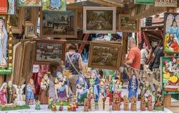 Kazimierz Dolny, Polska uliczny rynek, obrazy -/ zdjęcia royalty free