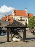 Kazimierz Dolny stadfyrkant Arkivbild