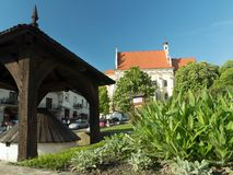 Kazimierz Dolny stadfyrkant Arkivfoto