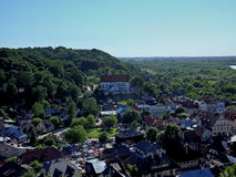 Kazimierz Dolny. Top view of the town of Kazimierz Dolny which is located in Poland Royalty Free Stock Images