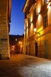 Kazimierz, former jewish quarter of Krakow: Jozefa Street, Krako Stock Images