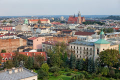 Kazimierz and Stradom from Above in Krakow Royalty Free Stock Photos