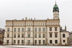 Kazimierz Town Hall nel distretto ebreo Cracovia, Polonia Fotografia Stock Libera da Diritti