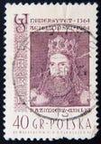 Kazimierz Wielki, 600ste verjaardag van Jagiellonian-Universiteit Royalty-vrije Stock Foto