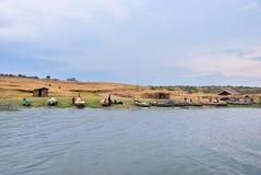 Kazinga kanał, królowej Elizabeth park narodowy, Uganda Obraz Royalty Free