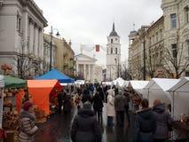 Kaziuko angemessen am 8. März 2014 in Vilnius Stockfotografie