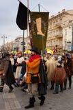 Kaziuko fair. VILNIUS, LITHUANIA - MARCH 7: Theatricalized procession during annual traditional crafts fair - Kaziuko fair on Mar 7, 2009 Royalty Free Stock Photos