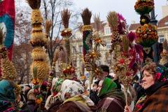 Kaziuko fair. VILNIUS, LITHUANIA - MARCH 7: Theatricalized procession during annual traditional crafts fair - Kaziuko fair on Mar 7, 2009 Stock Images