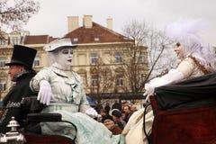 Kaziuko fair. VILNIUS, LITHUANIA - MARCH 7: Theatricalized procession during annual traditional crafts fair - Kaziuko fair on Mar 7, 2009 Stock Image