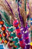 Kaziuko fair. Vilnius, Lithuania - March 7: Palms are symbolic wares in annual traditional crafts fair - Kaziuko fair Stock Photography