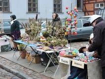 Kaziuko Fair in Theater Square in Klaipeda Royalty Free Stock Photography
