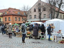 Kaziuko Fair in Theater Square in Klaipeda Royalty Free Stock Images