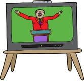 Kaznodzieja na TV Zdjęcie Royalty Free