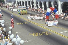 Kazooband die in 4 de Parade van Juli, Ojai, Californië marcheren Royalty-vrije Stock Foto