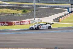 Kazuki Hiramine de JLOC dans la course finale superbe du GT 66 recouvrements à A 2015 Photo libre de droits