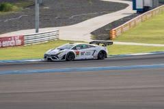 Kazuki Hiramine of JLOC in Super GT Final Race 66 Laps at 2015 A. BURIRUM, THAILAND - JUNE 21 : Kazuki Hiramine of JLOC in Super GT Final Race 66 Laps at 2015 Royalty Free Stock Image