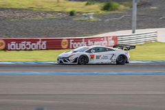 Kazuki Hiramine of JLOC in Super GT Final Race 66 Laps at 2015 A. BURIRUM, THAILAND - JUNE 21 : Kazuki Hiramine of JLOC in Super GT Final Race 66 Laps at 2015 Royalty Free Stock Photos