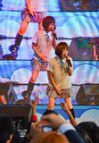 Kazumi de Sony Music exécute le concert vivant dans l'uniforme scolaire, Photographie stock
