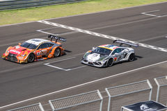 Kazuya Oshima of LEXUS TEAM LeMans ENEOS and Chonsawat Asavahame Royalty Free Stock Photo