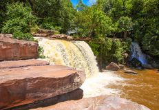 Kbal Chhay waterfall is located in Khan Prey Nup in Sihanoukville. Kbal Chhay waterfall is located in Khan Prey Nup, about 16 kilometers north of the downtown Royalty Free Stock Images