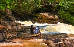 Kbal Chhay waterfall is located in Khan Prey Nup in Sihanoukville. Kbal Chhay waterfall is located in Khan Prey Nup, about 16 kilometers north of the downtown Royalty Free Stock Image