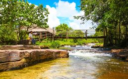 Kbal Chhay waterfall is located in Khan Prey Nup in Sihanoukville. Kbal Chhay waterfall is located in Khan Prey Nup, about 16 kilometers north of the downtown Stock Images