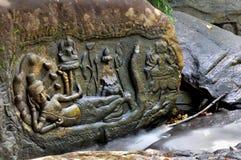 Kbal Spean i Angkor Wat Arkivfoton