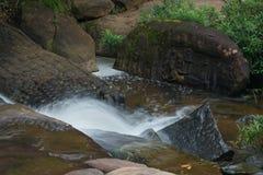 Kbal Spean the mystery waterfall on Kulen mountains range of the. View of Kbal Spean the mystery waterfall on Kulen mountains range of the ancient Khmer empire Royalty Free Stock Image