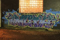 Kc du centre Graffitti photo libre de droits