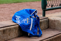 KC Royals equipment bag Royalty Free Stock Photos