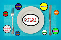 Kcal in the concept Stock Photo