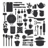 Küchenwerkzeugsatz Stockfotos