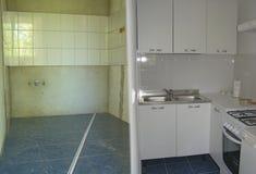Kücheumgestaltung Stockfoto