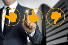 Kciuk ikony dla klienta przeglądu pojęcia Zdjęcie Royalty Free