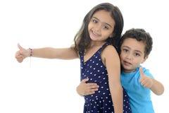 Kciuk W górę małych dzieci Zdjęcia Royalty Free
