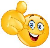 Kciuk w górę emoticon Zdjęcia Stock