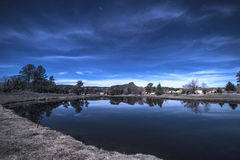 Kciuka Butte Starscape Zdjęcia Royalty Free