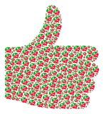 Kciuka palec w górę mozaiki argument ikony Zdjęcie Stock