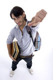 kciuka powietrzny pokazywać studencki widok Zdjęcia Stock