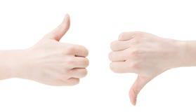 kciuki Obrazy Stock