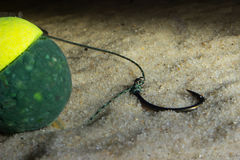 KD水下雪人的船具 鲤鱼勾子水下的Boilies 库存照片