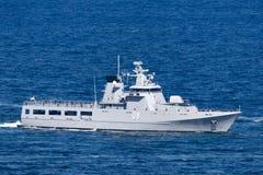 KDB Darulaman OPV-08 Darussalam-klasse weg vom Uferpatrouillenschiff der k?niglichen Brunei-Marine stockbilder